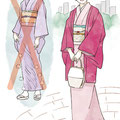 「美しいキモノ」2014年冬号カット(婦人画報社)