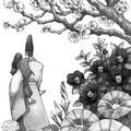 オール讀物2017年7月号「すみのさくら」阿部智里著:扉絵
