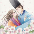 NHK番組テキスト「趣味どきっ!恋する百人一首」(NHK出版)表紙絵
