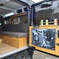 Land Rover Ausbau: Colemanablage
