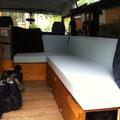 Land Rover Ausbau: Bett / Schaumstoff