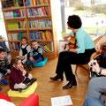 Intensive Zusammenarbeit mit der Bücherei