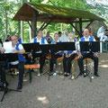 Die Altensteiner Blasmusikanten sorgen für den musikalischen Rahmen
