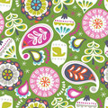 blend fabrics - holiday baubles, green - baumwolle