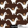znok - dragons brown/white - bio-jersey