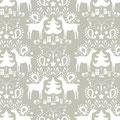 blend fabrics - rudolph, grey - baumwolle