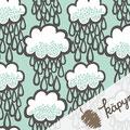 käpynen - rainclouds, mint - bio-jersey