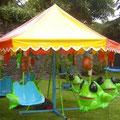 """"""" RANITAS VOLADORAS"""" Medidas: Medidas: 5m de diámetro x 3m altura Capacidad: 12 niños"""