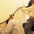 壁手すりはアイアンなので重い