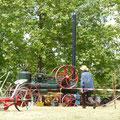 exposition d'anciennes machines agricoles en parfait état de marche
