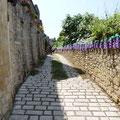 Rue pavée de la bastide de Beaumont du Périgord