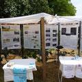 Le stand du SIBV2C et de la Charte Forestière (nous avons eu chaud ces jours ci ;) )
