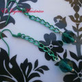 PCA002 pendientes verdes cristal