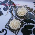 PF003 resina crema y base bronce