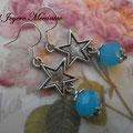 PC123 Estrella y cuenta azul cristal opaca