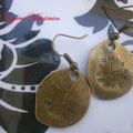 PR006 Pendientes reloj bronce. Largo aprox. 4cm