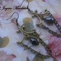 PCA011 pendientes cadenas y lágrima