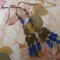 PC069 Chandelier azul swarovski