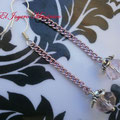 PCA004 pendientes rosas cristal