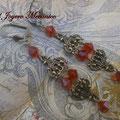 PC155 Pendientes chandelier rojos