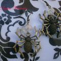 PA008 Pendientes araña y cuenta cristal checo