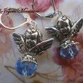 PC100 ángel y cuenta azul, 4cm