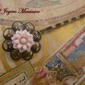 H007 Horquilla flor rosa pequeña