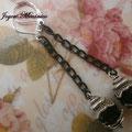 PCA009 pendientes cadena y cristal (gargantilla a juego disponible)