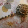 H001 Horquilla flor café pequeña