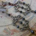 PC154 Pendientes chandelier negros