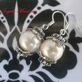 PP001 Pendientes perlas y metal. Largo aprox. 4cm. 2,00 euros