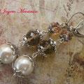 PP005 Pendientes perlas y metal. Largo 6,5cm. 4,00 euros