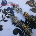 PF011 flor metal y cuentas cristal