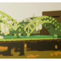 bridge, acrylic and oil on canvas, 80.3 × 45.2cm, 2011 / photo by Yumi MORIMOTO