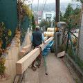 Transport zum Bauplatz