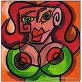 """""""Die Verwandlungen der Dora Maar IV""""/Acryl auf Leinwand/ 2012/ 20x20 cm"""
