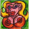 """""""Die Verwandlungen der Dora Maar I""""/Acryl auf Leinwand/ 2012/ 20x20 cm"""