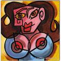 """""""Die Verwandlungen der Dora Maar III""""/Acryl auf Leinwand/ 2012/ 20x20 cm"""