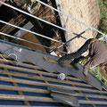 Verlegung der rhombusförmigen Eternitplatten