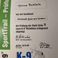 K-9 SportTrail Prüfung Grün B SK Ch. Somora´s Juniper Dream...30.09.2018