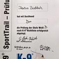 K-9 SportTrail Prüfung Weiss B Somora´s Juniper Dream...16.04.2016