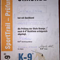 K-9 SportTrail Prüfung Orange B Somora´s Juniper Dream...02.12.2017