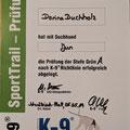 K-9 SportTrail Prüfung Grün A SK Ch. SLO Ch. Somora´s Juniper Dream...05.05.2019