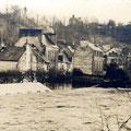 1925, Place et pont Lovignon, à Quimperlé