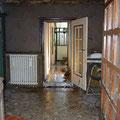 Dégâts dans une maison, place Lovignon à Quimperlé