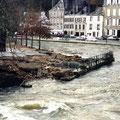 Dégâts quai surcouf à Quimperlé