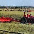 Hesston 1180 Mähwerk mit MF Traktor (Quelle: AGCO)