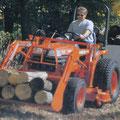 Kubota B2100 Traktor mit Frontlader (Quelle: Kubota)