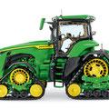 John Deere 8RX 410 Traktor mit Raupenlaufwerken (Quelle: John Deere)