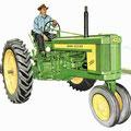 John Deere 520 Tricycle Traktor (Quelle: John Deere)